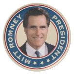 Mitt Romney para presidente Commemorative Plate Platos De Comidas