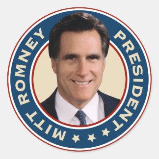 Mitt Romney para presidente Stickers Pegatina Redonda
