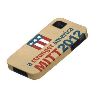 Mitt Romney para un caso más fuerte del iPhone 4 d Case-Mate iPhone 4 Carcasa