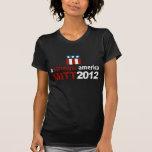 Mitt Romney para una camiseta oscura más fuerte de