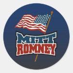 Mitt Romney Patriotic Classic Round Sticker