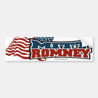 Mitt Romney patriótico Etiqueta De Parachoque