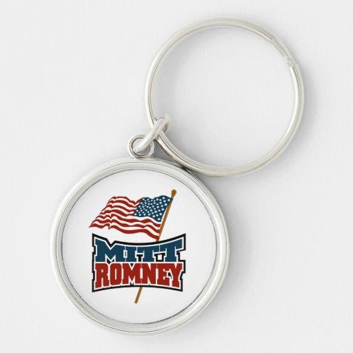 Mitt Romney patriótico Llavero