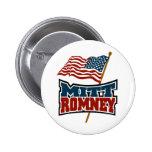 Mitt Romney patriótico Pin