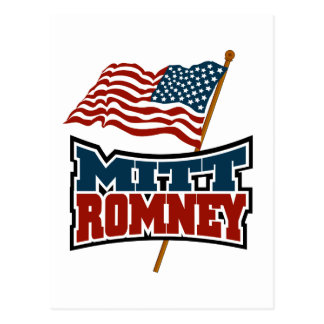 Mitt Romney patriótico Postal