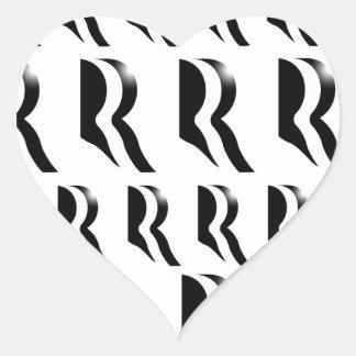 MITT ROMNEY PATTERN Black Heart Sticker