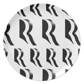 MITT ROMNEY PATTERN Black Plate