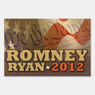 Mitt Romney Paul Ryan 2012 America Yard Sign