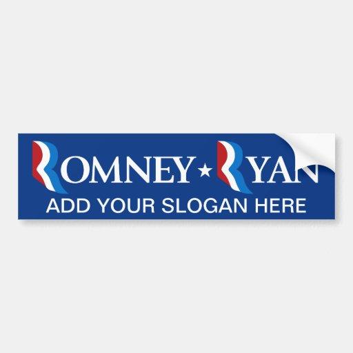 Mitt Romney - Paul Ryan 2012 Etiqueta De Parachoque