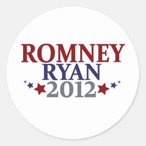 Mitt Romney Paul Ryan 2012 Classic Round Sticker