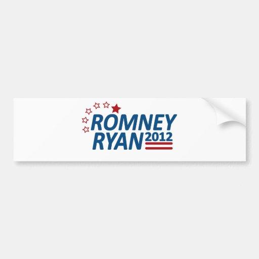 Mitt Romney Paul Ryan 2012 estrellas Pegatina Para Auto