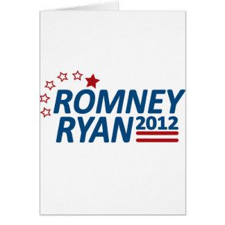 Mitt Romney Paul Ryan 2012 estrellas Tarjeta De Felicitación