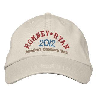 Mitt Romney Paul Ryan 2012 Gorra Bordada