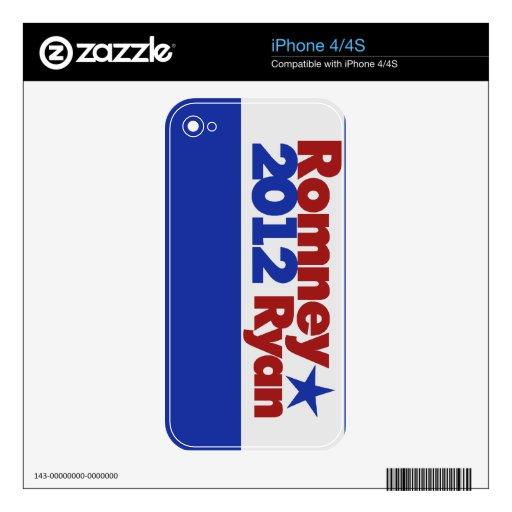 Mitt Romney Paul Ryan 2012 iPhone 4S Skins