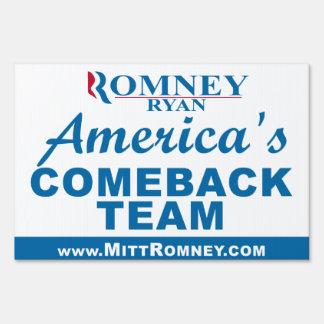 Mitt Romney Paul Ryan 2012 Lawn Sign