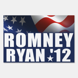 Mitt Romney Paul Ryan 2012 Lawn Sign