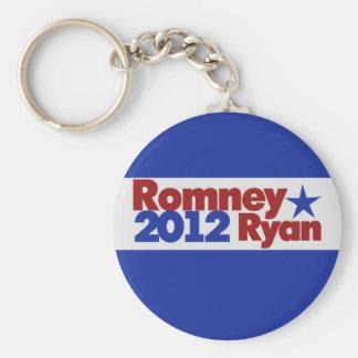 Mitt Romney Paul Ryan 2012 Llavero Redondo Tipo Pin