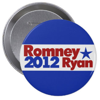 Mitt Romney Paul Ryan 2012 Pinback Button