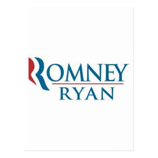 Mitt Romney & Paul Ryan 2012 Postcard