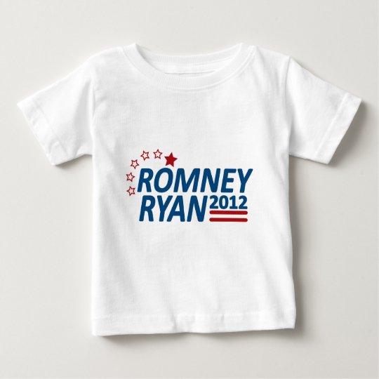 Mitt Romney Paul Ryan 2012 Stars Baby T-Shirt