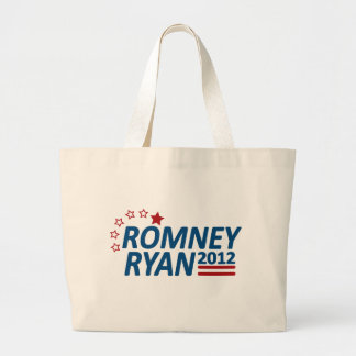 Mitt Romney Paul Ryan 2012 Stars Large Tote Bag