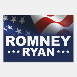 Mitt Romney Paul Ryan 2012 Yard Sign