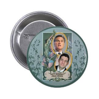 Mitt Romney & Paul Ryan Pinback Buttons