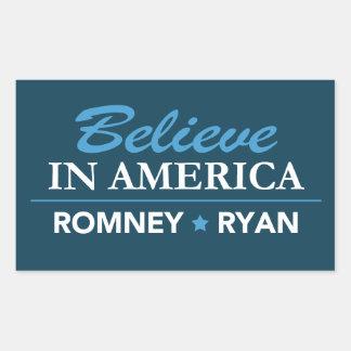 Mitt Romney Paul Ryan cree en el rectángulo de Rectangular Altavoz