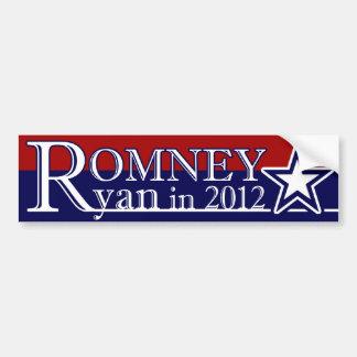 Mitt Romney Paul Ryan en 2012 Pegatina Para Auto
