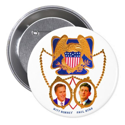 Mitt Romney & Paul Ryan for 2012 Button