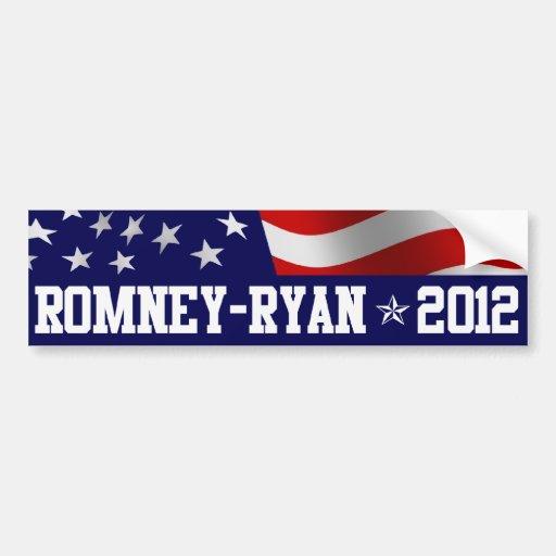 Mitt Romney Paul Ryan in 2012 Bumper Stickers