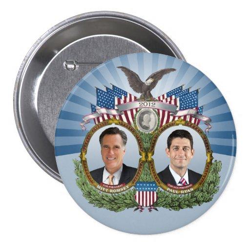 Mitt Romney Paul Ryan Jugate Pin