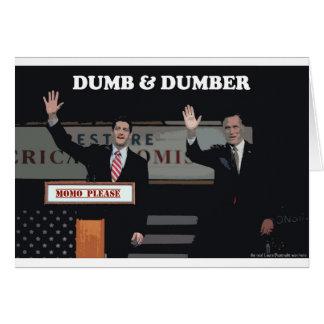 Mitt Romney Paul Ryan mudo y más mudo Tarjeta De Felicitación