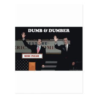 Mitt Romney Paul Ryan mudo y más mudo Tarjetas Postales