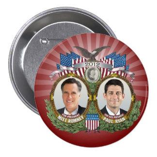 Mitt Romney Paul Ryan Photo Buttons