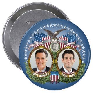 Mitt Romney Paul Ryan Photo Pins