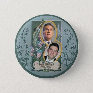 Mitt Romney & Paul Ryan Pinback Button