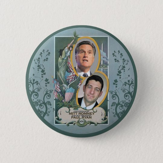 Mitt Romney & Paul Ryan Pinback Button
