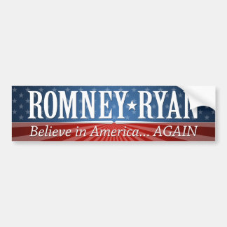 Mitt Romney Paul Ryan Slogan Car Bumper Sticker