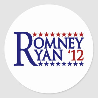 Mitt Romney Paul Ryan Classic Round Sticker