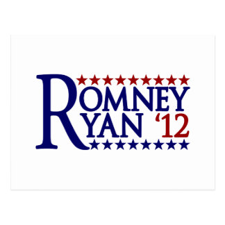 Mitt Romney Paul Ryan Tarjeta Postal