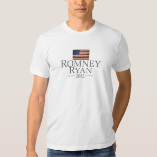 Mitt Romney Paul Ryan with American Flag Tshirts