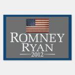 Mitt Romney Paul Ryan with American Flag Yard Sign