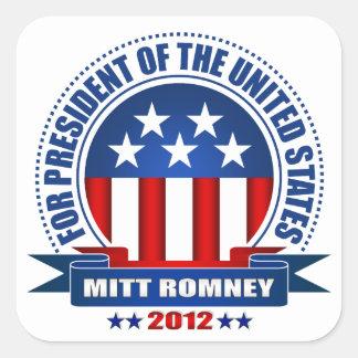Mitt Romney Pegatina Cuadrada
