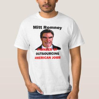 Mitt Romney pionero Camisas