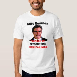 Mitt Romney pionero Remeras