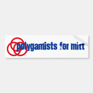 Mitt Romney Polygamists campaign  Bumper Stickers