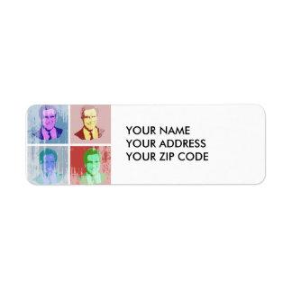 MITT ROMNEY Pop Art Return Address Label