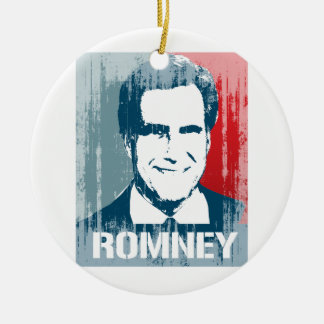 MITT ROMNEY POSTER.png Double-Sided Ceramic Round Christmas Ornament