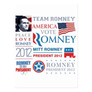 Mitt Romney president 2012 Postcard